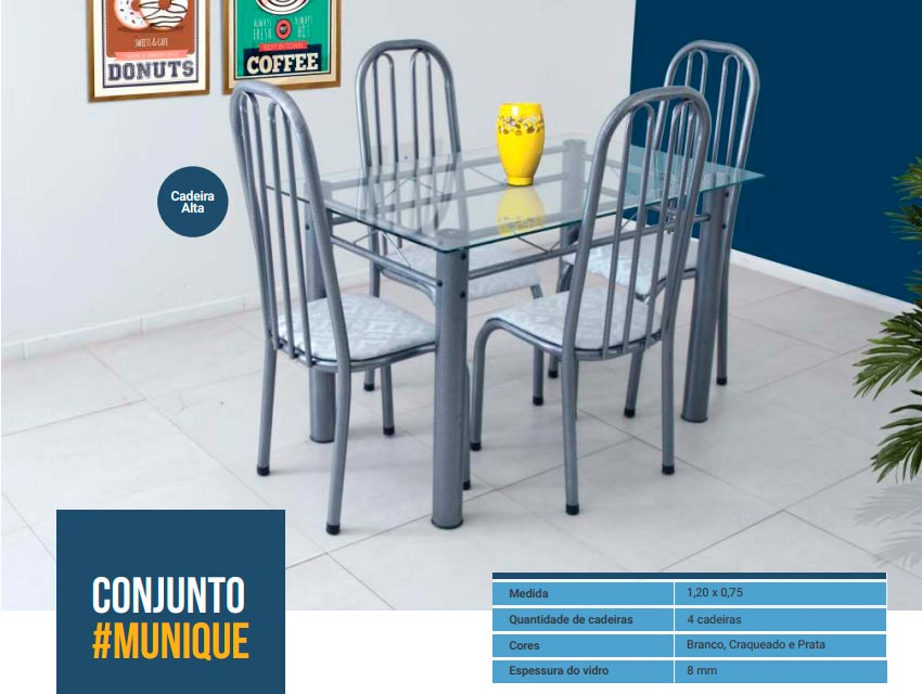 Conjunto Munique - 4 Cad. Altas