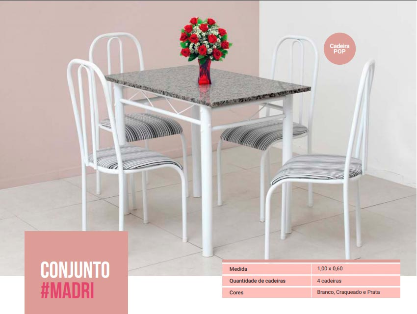 Conjunto Madri - 4 Cad. Pop